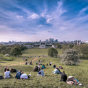 The first sight of sunshine in London and the parks fill with thousands of happy people embracing the short-lived warmth
