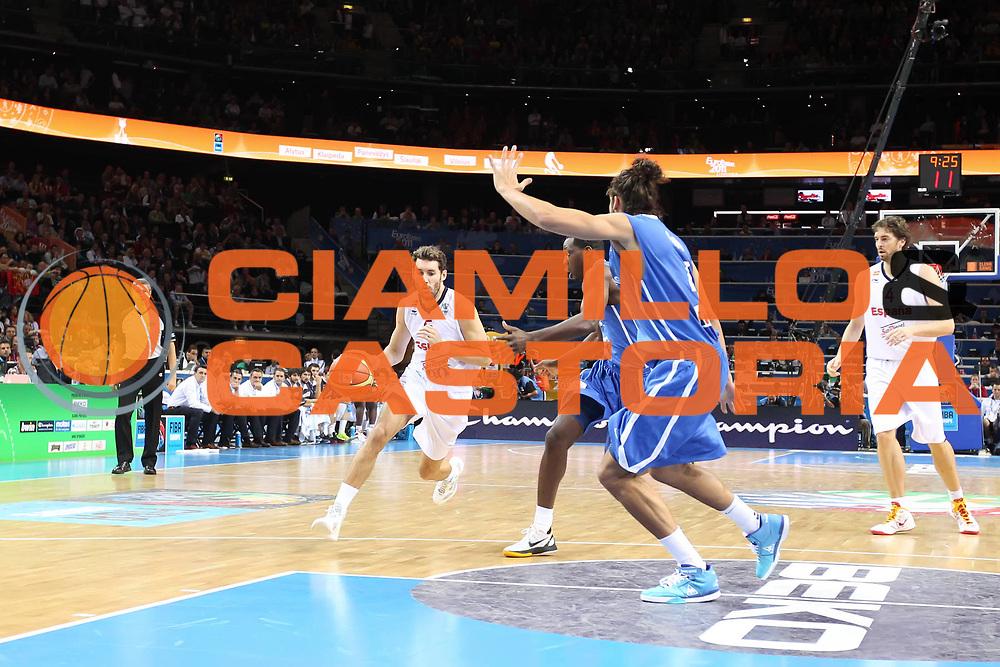DESCRIZIONE : Kaunas Lithuania Lituania Eurobasket Men 2011 Finale Primo Secondo Posto Final Spagna Francia Spain France<br /> GIOCATORE : Rudy Fernandez<br /> SQUADRA : Spagna Spain<br /> EVENTO : Eurobasket Men 2011<br /> GARA : Spagna Francia Spain France<br /> DATA : 18/09/2011 <br /> CATEGORIA : palleggio<br /> SPORT : Pallacanestro <br /> AUTORE : Agenzia Ciamillo-Castoria/ElioCastoria<br /> Galleria : Eurobasket Men 2011 <br /> Fotonotizia : Kaunas Lithuania Lituania Eurobasket Men 2011 Finale Primo Secondo Posto Final Spagna Francia Spain France<br /> Predefinita :