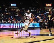 "Ole Miss' Nick Williams (20) scores against Grambling State during the first half at the C.M. ""Tad"" Smith Coliseum in Oxford, Miss. on Monday, November 14, 2011.."