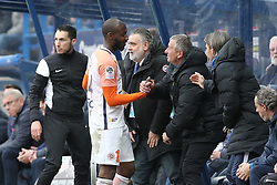 April 1, 2018 - Paris, France - joie sur le deuxieme but Giovanni Sio (MHSC) - Laurent Nicollin (Credit Image: © Panoramic via ZUMA Press)