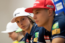 Ana Bucik and Zan Kranjec at press conference of Slovenian Alpine Ski Team, on September 11, 2017 in Smucarska zveza Slovenije, Ljubljana, Slovenia. Photo by Matic Klansek Velej / Sportida