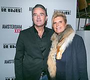 2018-03-20. De Bajes, Amsterdam. Lancering 6e editie van Amsterdam XXXL. Op de foto: Mike van Rijswijk en Jeannette van Rijswijk