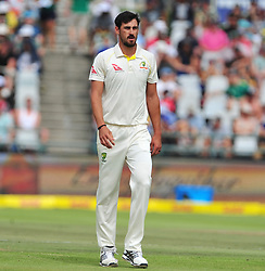 Cape Town-180324 Australian fast bowler Mitchell Starc fielding  against  South Africa in the secong Innings of the 3rd sunfoil cricket test at Newlands cricket stadium..Photograph:Phando Jikelo/African News Agency/ANA