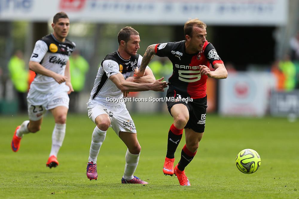 Kamil GROSICKI / Reynald LEMAITRE - 12.04.2015 - Rennes / Guingamp - 32eme journee de Ligue 1 <br /> Photo : Vincent Michel / Icon Sport