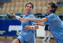 Vesna Pus and Ana Gros at practice of Slovenian Handball Women National Team, on June 3, 2009, in Arena Kodeljevo, Ljubljana, Slovenia. (Photo by Vid Ponikvar / Sportida)