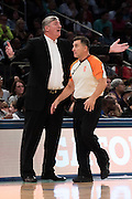 New York Liberty head coach Bill Laimbeer has words with an official during a game against the Phoenix Mercury during the second round of the WNBA Playoffs at Madison Square Garden in New York on September 24, 2016. (Cooper Neill for The New York Times)