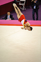 Isaac BOTELLA PEREZ (ESP), competes in the floor The London Prepares Visa International Gymnastics,
