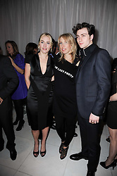 Left to right, KATE WINSLET, SAM TAYLOR-WOOD and AARON JOHNSON at a party to celebrate Lancome's 10th anniversary of sponsorship of the BAFTA's in association with Harper's Bazaar magazine held at St.Martin's Lane Hotel, London on 19th February 2010.