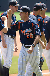 Virginia Cavaliers Head Coach Brian O'Connor (26).  The Oregon State Beavers defeated the Virginia Cavaliers 7-3 in Game 7 of the NCAA World Series Charlottesville Regional held at Davenport Field in Charlottesville, VA on June 5, 2007.  With the win, the Beavers advance to the NCAA Super Regional.