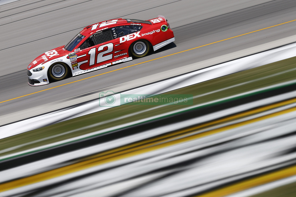 July 13, 2018 - Sparta, Kentucky, United States of America - Ryan Blaney (12) brings his race car down the front stretch during practice for the Quaker State 400 at Kentucky Speedway in Sparta, Kentucky. (Credit Image: © Chris Owens Asp Inc/ASP via ZUMA Wire)