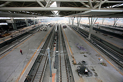 CHINA SHANGHAI HONGQIAO 19MAY10 - General view of the Hongqiao Passenger Rail Terminal in Shanghai, China. There are a total of 23000 solar panels planned for the CECIC-funded project, each panel with a production capacity of 280 KWh to feed into the electricity grid...jre/Photo by Jiri Rezac..© Jiri Rezac 2010