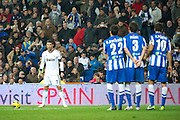 06.JANUARY.2013. MADRID<br /> <br /> REAL MADRID VS REAL SOCIEDAD AT THE ESTADIO SANTIAGO BERNABEU IN MADRID. REAL MADRID BEAT REAL SOCIEDAD 4-3 IN THE LA LIGA GAME.<br /> <br /> BYLINE: EDBIMAGEARCHIVE.CO.UK<br /> <br /> *THIS IMAGE IS STRICTLY FOR UK NEWSPAPERS AND MAGAZINES ONLY*<br /> *FOR WORLD WIDE SALES AND WEB USE PLEASE CONTACT EDBIMAGEARCHIVE - 0208 954 5968*