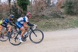 Carmen Small has her eyes on the top of the climb - 2016 Strade Bianche - Elite Women, a 121km road race from Siena to Piazza del Campo on March 5, 2016 in Tuscany, Italy.