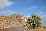 Israel, Jordan Valley, The remains of the 12th century Crusader fortress of Belvoir