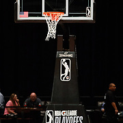 The League provided Playoff accessories for the Western Conference Semi-Final NBA G-League Basketball game between the Reno Bighorns and the South Bay Lakers at the Reno Events Center in Reno, Nevada.