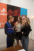 TIPHANIE DE LUSSIS; NAOMI SMART; JULIA HOBBS, Stefania Pramma launched her handbag brand PRAMMA  at the Kensington residence of her twin sister, art collector Valeria Napoleone.. London.  29 April 2015