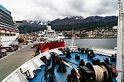 Antarctic Cruise Liner Docking in Ushuaia before departing Antarctica,  Ushuaia, Argentina