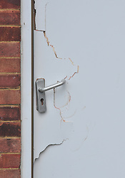 © Licensed to London News Pictures. 20/08/2018<br /> NEW ELTHAM, UK.<br /> Damage to a side door at a property believed to belong to Joe Xuereb who was arrested yesterday in connection with a hammer attack on two women.Photo credit: Grant Falvey/LNP