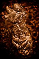 Zimsculpt at Van Dusen Botanical Garden: Metamorphosis - serpentine sculpture by Bernard Matemera (1st Generation) (original sculpture available at www.zimsculpt.com)