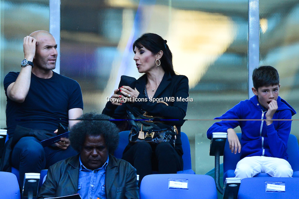 Zinedine ZIDANE / Veronique ZIDANE / Elyaz ZIDANE - 07.06.2015 - France / Belgique - Match Amical<br /> Photo : Dave Winter / Icon Sport