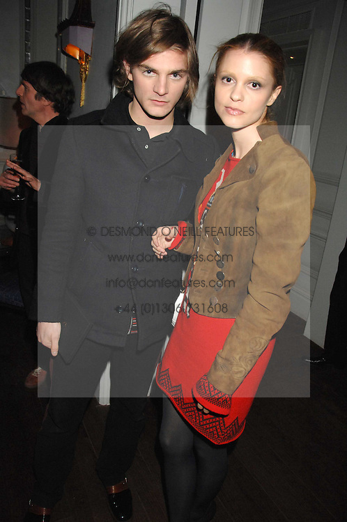 SARO WEVER and ANGELA WEVER at a party to promote The Landau at The Langham, Portland Place, London W1 on 7th February 2008.<br />