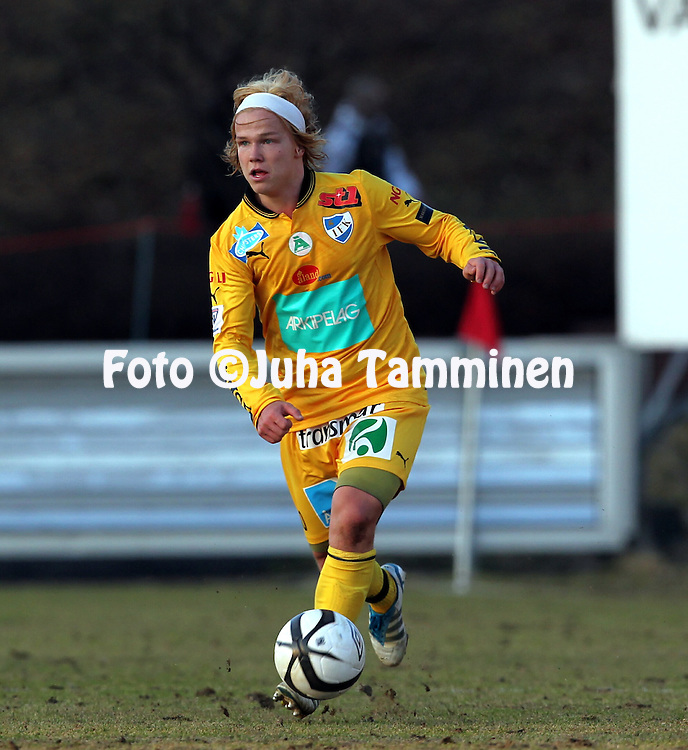 22.4.2012, Tehtaan kentt, Valkeakoski..Veikkausliiga 2012..FC Haka - IFK Mariehamn..Petteri Forsell - IFK Mhamn