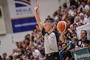 """DESCRIZIONE : Torneo Città di Sassari """"Mimì Anselmi"""" Dinamo Banco di Sardegna Sassari - AEK Atene<br /> GIOCATORE : Gianluca Calbucci<br /> CATEGORIA : Arbitro Referee Mani<br /> SQUADRA : AIAP<br /> EVENTO :  Torneo Città di Sassari """"Mimì Anselmi"""" <br /> GARA : Dinamo Banco di Sardegna Sassari - AEK Atene Torneo Città di Sassari """"Mimì Anselmi""""<br /> DATA : 12/09/2015<br /> SPORT : Pallacanestro <br /> AUTORE : Agenzia Ciamillo-Castoria/L.Canu"""