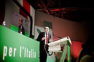 ROMA. IL SEGRETARIO DEL PARTITO DEMOCRATICO PIERLUGI BERSANI; THE SECRETARY OF THE DEMOCRATIC PARTY PIERLUGI BERSANI THROUGH A MONITOR