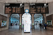 Empty trainstation in Santa Apolonia, Lisbon, during the general strike against the new austerity measures created by the government. November 24th, 2011