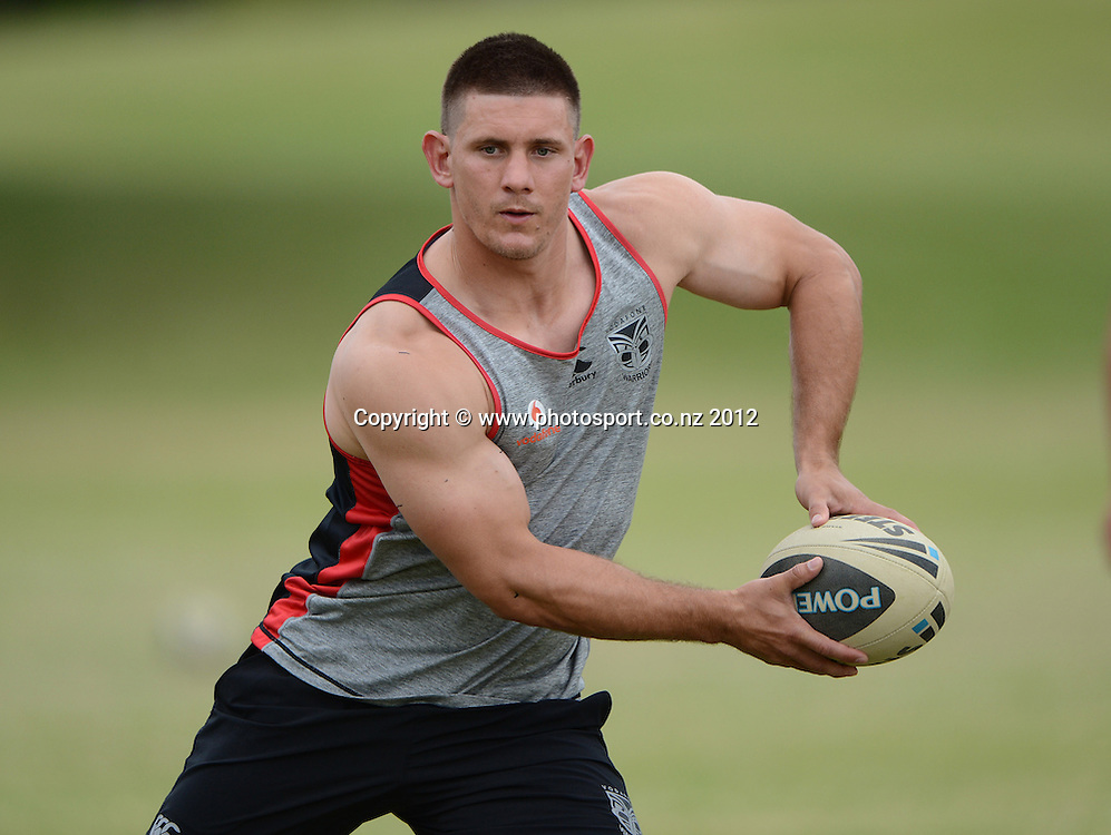 Jacob Lillyman. NRL Rugby League. Vodafone Warriors pre season training session at One Tree Hill, Auckland, New Zealand on Thursday 20 December 2012. Photo: Andrew Cornaga/photosport.co.nz