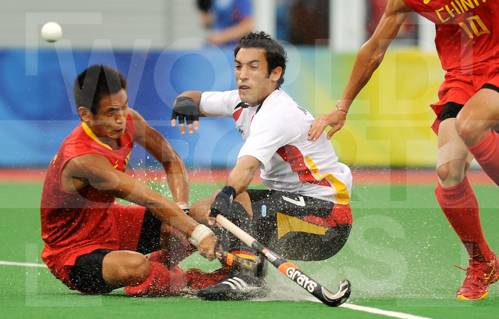 Beijing Olympic Green Hockey Stadium - Hockey.Germany - China 4-1.Carlos Nevado.photo:wsp/Frank Uijlenbroek.