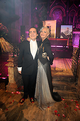 AMANDA ELIASCH and her son CHARLIE ELIASCH at 'Superficial Butterfly' a party hosted by Amanda Eliasch to celebrate her 50th birthday held at Number One Mayfair (St Marks Church) North Audley Street, London on 12th May 2010.