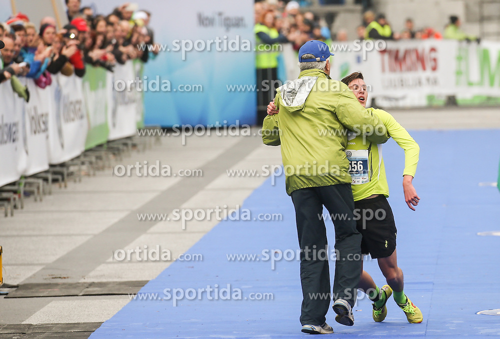 Exhausted third placed Matevz Planko at 10km Run at 21st Ljubljana Marathon 2016, on October 30, 2016 in Ljubljana, Slovenia. Photo by Vid Ponikvar / Sportida