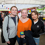 14.06.2018.             <br /> Limerick Food Group hosted the Urban Food Fest street food evening in the Milk Market on Thursday June 14th with a 'Summer Fiesta' theme in one big Limerick city summer party.<br /> <br /> Pictured at the event were, Sadhbh Ni Mhealoid, Grace Conlon and Katarina Lubiscakova. Picture: Alan Place