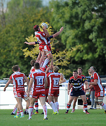 Lewis Ludlow of Gloucester United in line-out action against Bristol United - Mandatory by-line: Paul Knight/JMP - 02/10/2016 - RUGBY - Hyde Park - Taunton, England - Bristol United v Gloucester United - Aviva A League