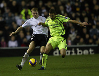 Photo: Steve Bond/Sportsbeat Images.<br />Derby County v Chelsea. The FA Barclays Premiership. 24/11/2007. Jay McEveley (L) and Andriy Shevchenko (R) tussle for the ball