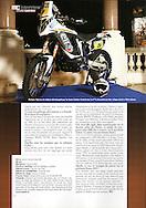 David Casteu dans le mensuel Moto Crampons pour un sujet de 3 pages (Page 3).