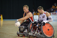 14 August 2015: TO2015 Parapanam Games, Wheelchair Rugby Gold medal match Canada v USA, Mississauga Sports Centre. Zak Madell (3