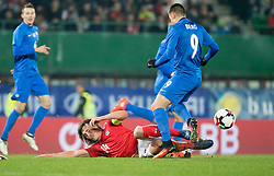 15.11.2016, Ernst Happel Stadion, Wien, AUT, Testspiel, Oesterreich vs Slowakei, im Bild v.l. Jan Gregus (SVK), Julian Baumgartlinger (AUT), Matus Bero (SVK) //during the International Friendly Football Match between Austria and Slovakia at the Ernst Happel Stadium, Vienna, Austria on 2016/11/15 . EXPA Pictures © 2016, PhotoCredit: EXPA/ Sebastian Pucher