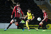 Burton Albion midfielder Scott Fraser (8) crosses the ball during the EFL Cup match between Burton Albion and Bournemouth at the Pirelli Stadium, Burton upon Trent, England on 25 September 2019.