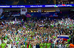 during the Final basketball match between National Teams  Slovenia and Serbia at Day 18 of the FIBA EuroBasket 2017 at Sinan Erdem Dome in Istanbul, Turkey on September 17, 2017. Photo by Vid Ponikvar / Sportida