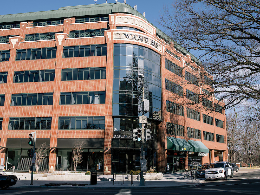 The broadcasting studios of WAMU in Washington D.C. home of the Diane Rehm Show.
