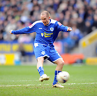 Fotball<br /> England<br /> Foto: Fotosports/Digitalsport<br /> NORWAY ONLY<br /> <br /> Leicester City v Bristol City Championship 08.03.08 <br /> <br /> Iain Hume Leicester City misses another golden opportunity