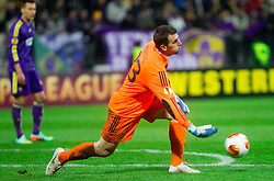 Jasmin Handanovic #33 of Maribor during football match between NK Maribor and Sevilla FC (ESP) in 1st Leg of Round of 32 of UEFA Europa League 2014 on February 20, 2014 at Stadium Ljudski vrt, Maribor, Slovenia. Photo by Vid Ponikvar / Sportida