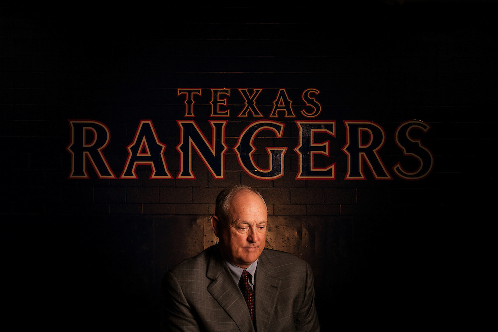 Nolan Ryan, President, Texas Rangers Baseball Club, photographed at Rangers Ballpark in Arlington, Texas on October 9, 2008. Photograph © 2008 Darren Carroll