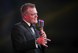 Steve Cole performs on stage during the Professional Footballers' Association Awards 2017 at the Grosvenor House Hotel, London
