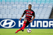 SYDNEY, NSW - JANUARY 18: Western Sydney Wanderers midfielder Roly Bonevacia (28) controls the ball at the Hyundai A-League Round 14 soccer match between Western Sydney Wanderers and Adelaide United at ANZ Stadium in NSW, Australia 18 January 2019. Image by (Speed Media/Icon Sportswire)