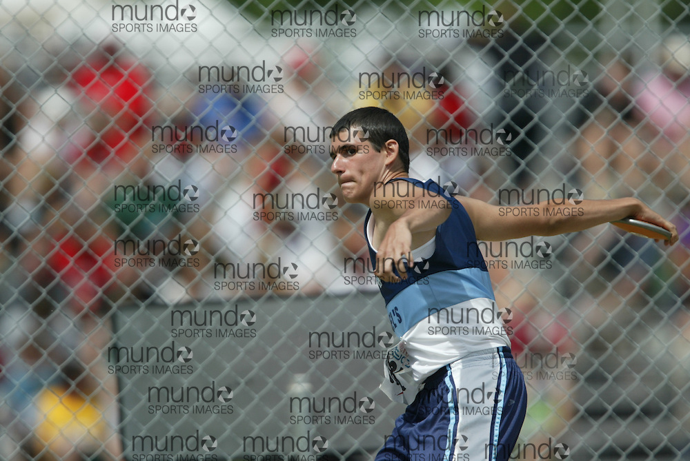(London, Ontario}---05 June 2010) \\ the junior boys discus at the 2010 OFSAA Ontario High School Track and Field Championships in London, Ontario, June 05, 2010 . Photograph copyright Sean Burges / Mundo Sport Images, 2010.