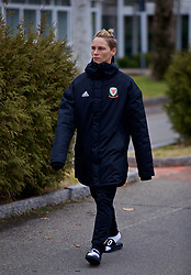 BOLOGNA, ITALY - Tuesday, January 22, 2019: Wales' Jessica Fishlock during a pre-match walk at the team hotel in Bologna ahead of the International Friendly game against Italy. (Pic by David Rawcliffe/Propaganda)