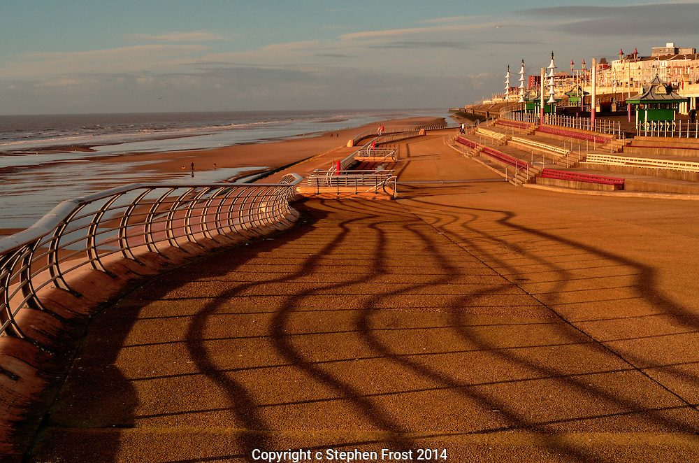A section of the splendid new promenade in Blackpool, England.